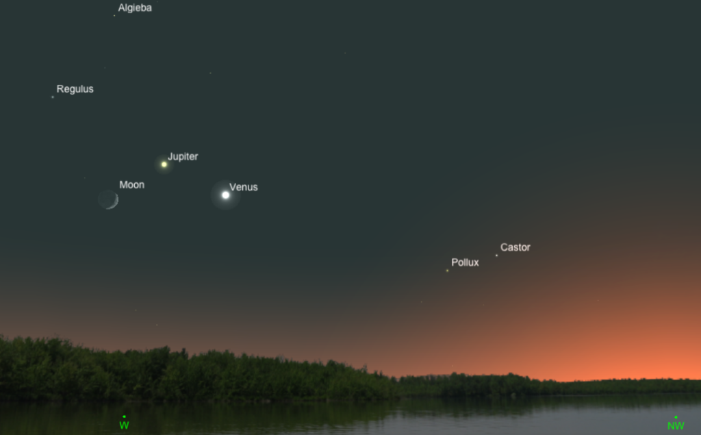 Venus, Jupiter, the Moon, and a Solstice – Cosmic Pursuits