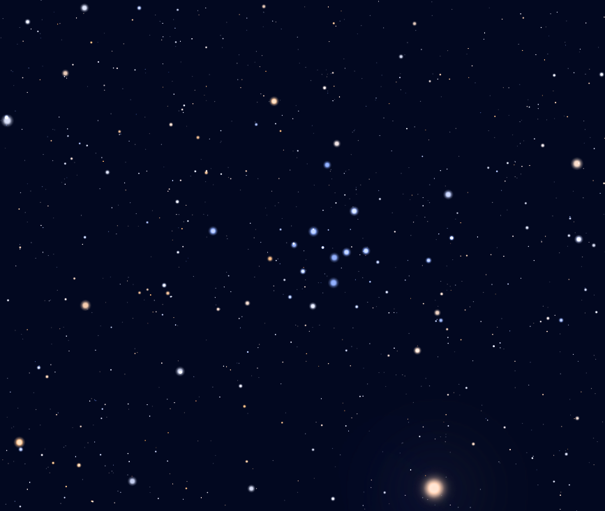 The open star cluster IC 4665 in the constellation Ophiuchus.