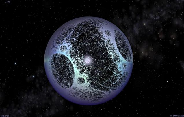 Artist's image of a Dyson Sphere, an engineered alien megastructure to harness the energy of a stars (from: https://larryniven.wikia.com/wiki/Dyson_sphere)