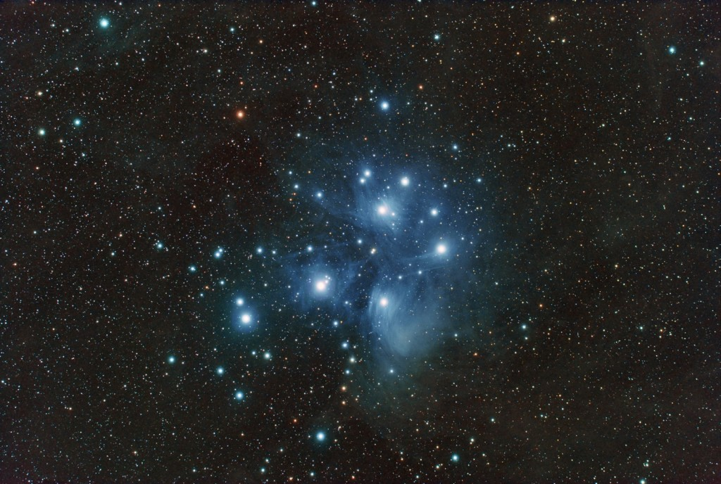 Large and bright star clusters like the Pleiades often look better in binoculars than in telescopes.