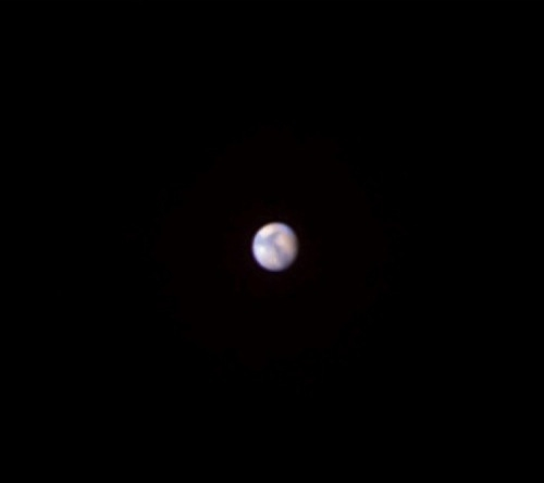 Mars as it might appear in a small telescope in good seeing (credit: faulkes-telescope.com)