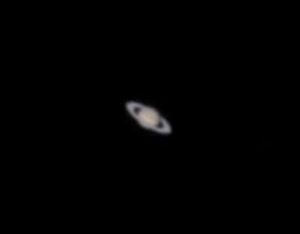 Saturn in a Small Telescope (credit: DeepSkyWatch.com)