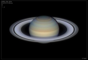Saturn at the 2014 opposition as imaged by Damian Peach (damianpeach.com)