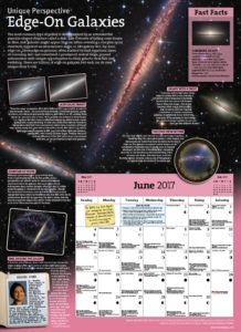 Sample pages from the 2017 Year in Space calendar (click to enlarge in a new page)